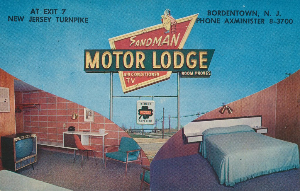 The cardboard america motel archive sandman motor lodge for Smith motor company nj