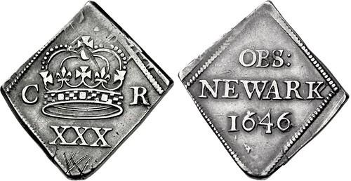Siege of Newark half Crown 1646