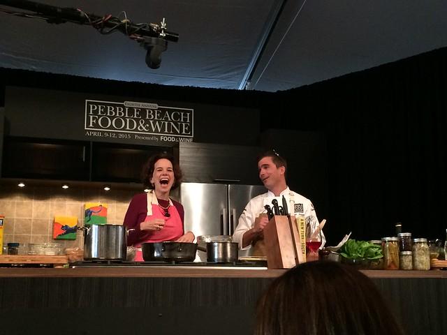 PBFW Hugh Acheson cooking demo Dana Cowin