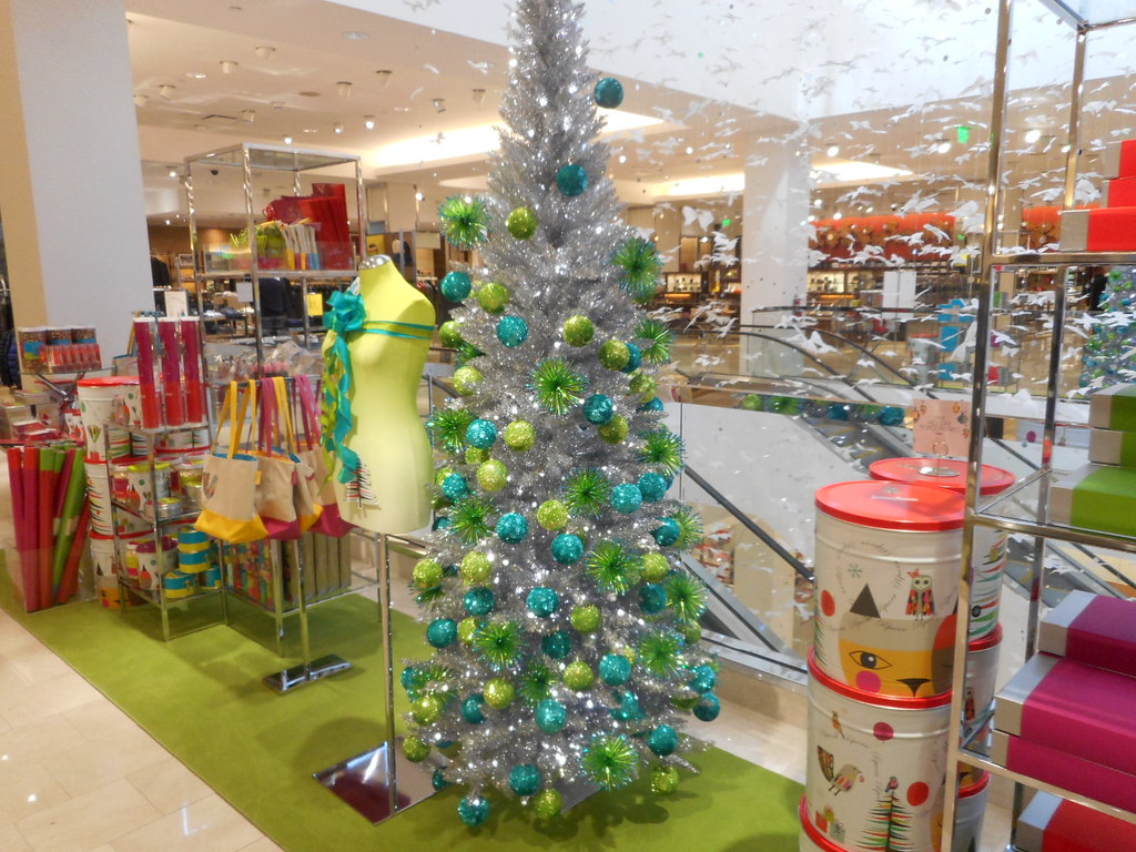 wa mid century modern christmas tree on level 3 in gift gallery in bellevue wa