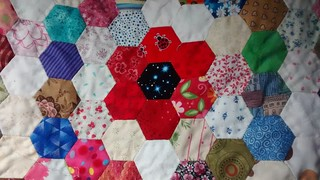Hand quilting in progress | by Viv J M
