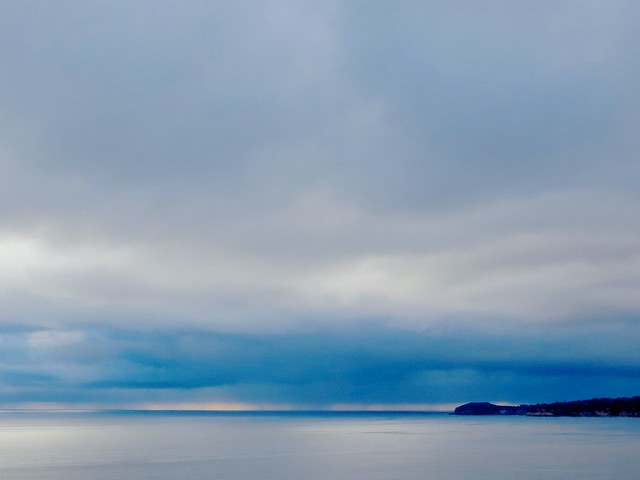cloudburst off Point Dume