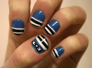 Easy Stripped Nail Designs At Home Easy Stripped Nail Desi Flickr