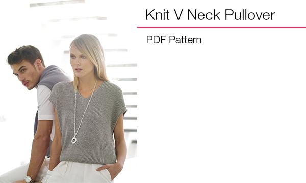 Knit V Neck Pullover
