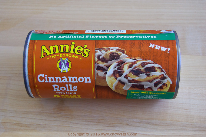 Can of Annie's Cinnamon Rolls