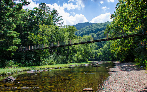 Footbridge Over the Maury River in Goshen Pass - Goshen, VA | by Paul Diming