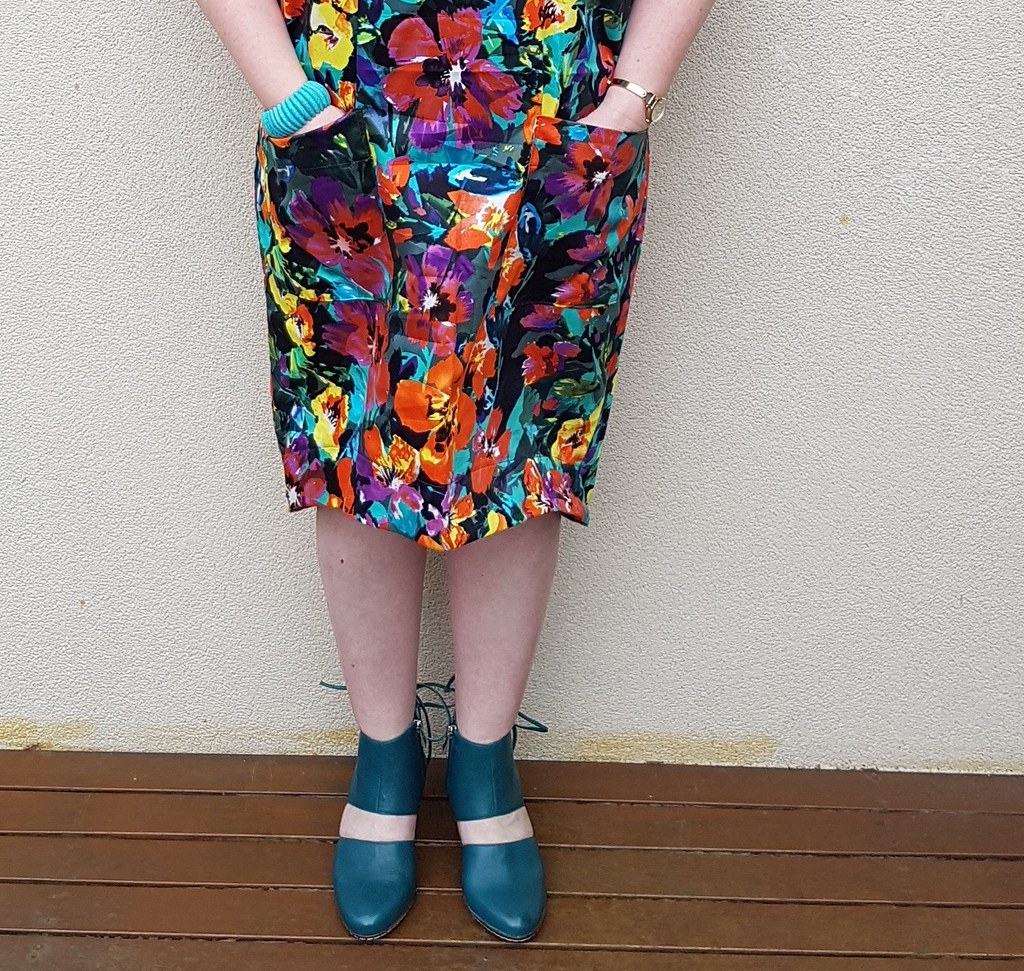 Style Arc Adeline dress in floral cotton from Darn Cheap Fabrics
