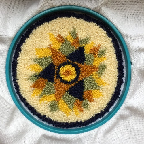Punch needle embroidery: potholder | by Twill Power