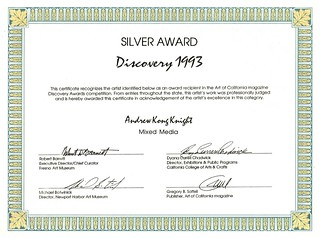 Silver Award Art of Cal | by Award-winning Artist & Art Educator