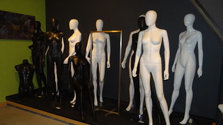 Black and white mannequins in my showroom | by Visualmerchandiser
