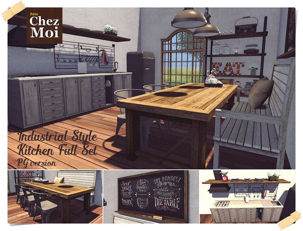 ... Industrial Kitchen Full Set CHEZ MOI | By NEW CHEZ MOI FURNITURES
