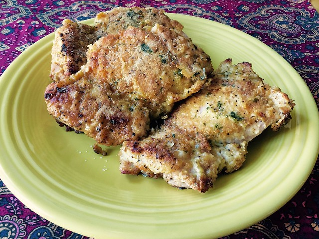 Crusty Oven Fried Chicken Thighs