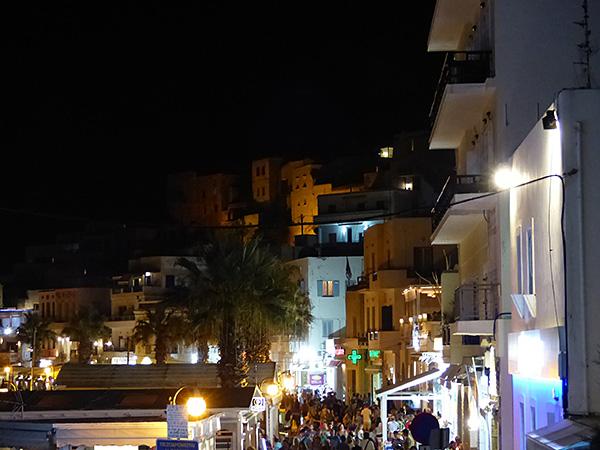 port de naxos la nuit