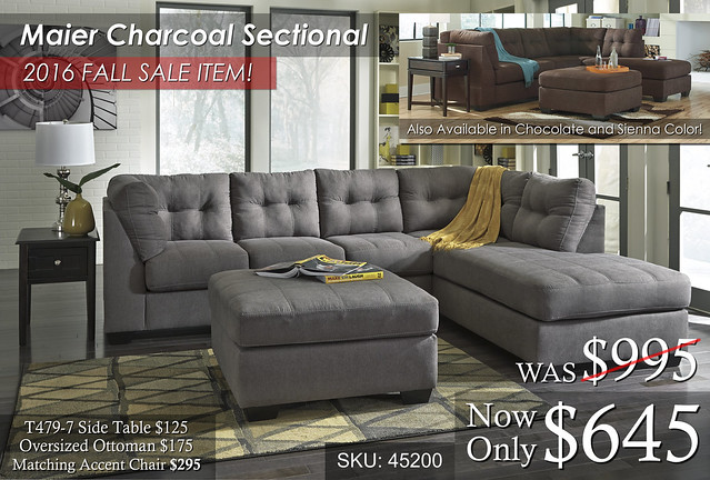 Maier Charcoal Sectional Multi Image