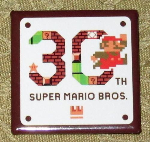Mario th anniversary pin promo