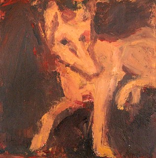 PA726 Perrito. Acrylic on board 25 x 25 cm Neil Bolton Fine Art Painter | by neil bolton painter