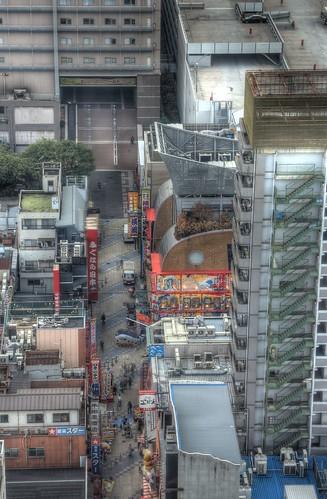Views from 'TSUTENKAKU' tower on DEC 01, 2016 (6)