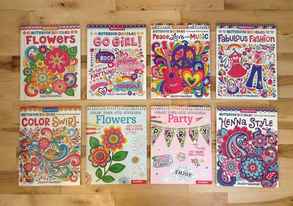 Notebook Doodles Coloring Books Sticker
