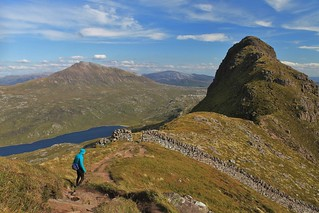 Descending a windy Suilven | by Pikes On Bikes