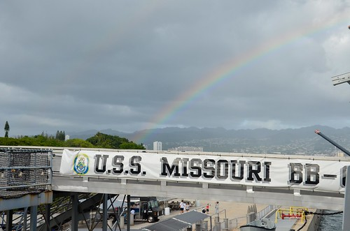USS Missouri - Rainbow
