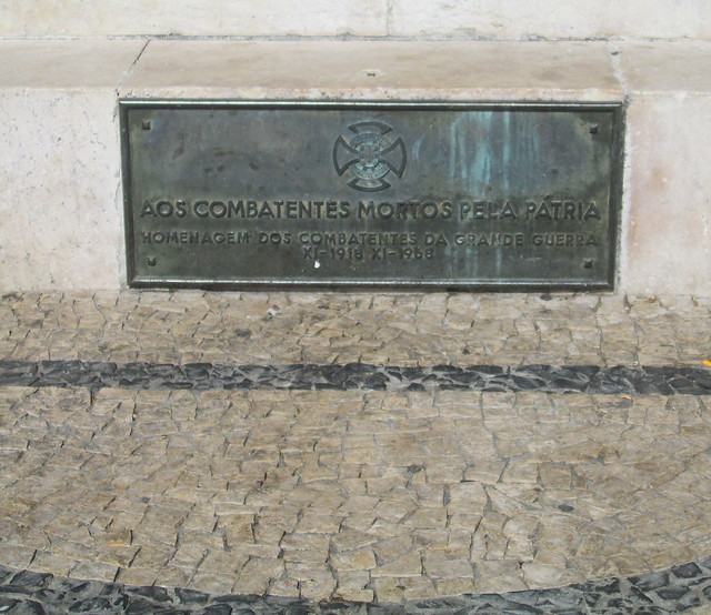 Porto War Memorial Plaque