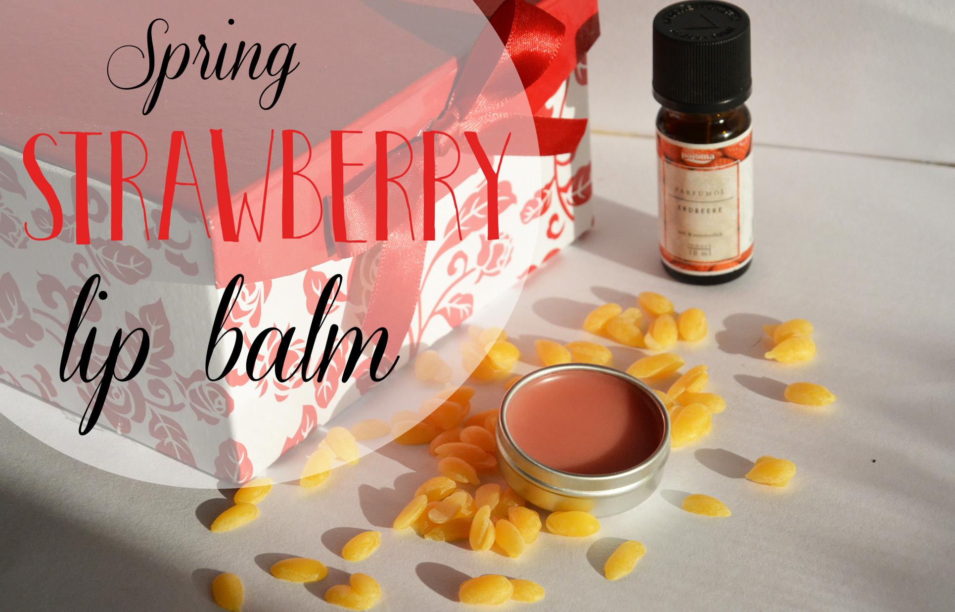 spring strawberry lip balm