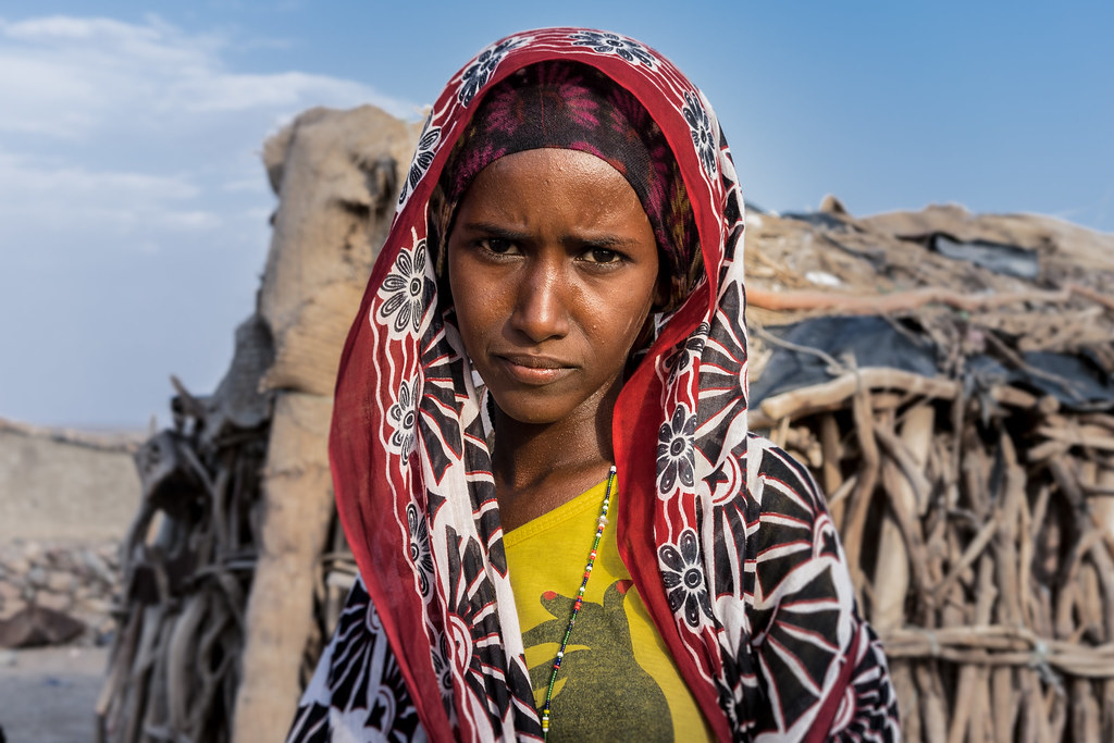 Afar girl. Danakil Ethiopia