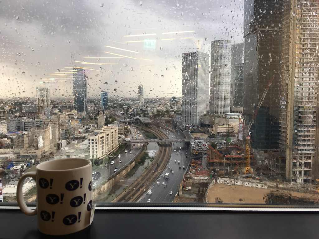 A rainy morning in Tel Aviv
