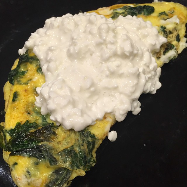 Spinach & Cottage Cheese Omlette