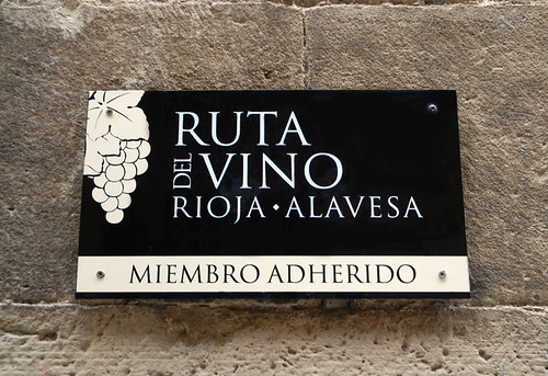 Ruta del Vino Sign in Laguardia, Spain