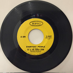 SLY & THE FAMILY STONE:EVERYDAY PEOPLE(RECORD SIDE-A)