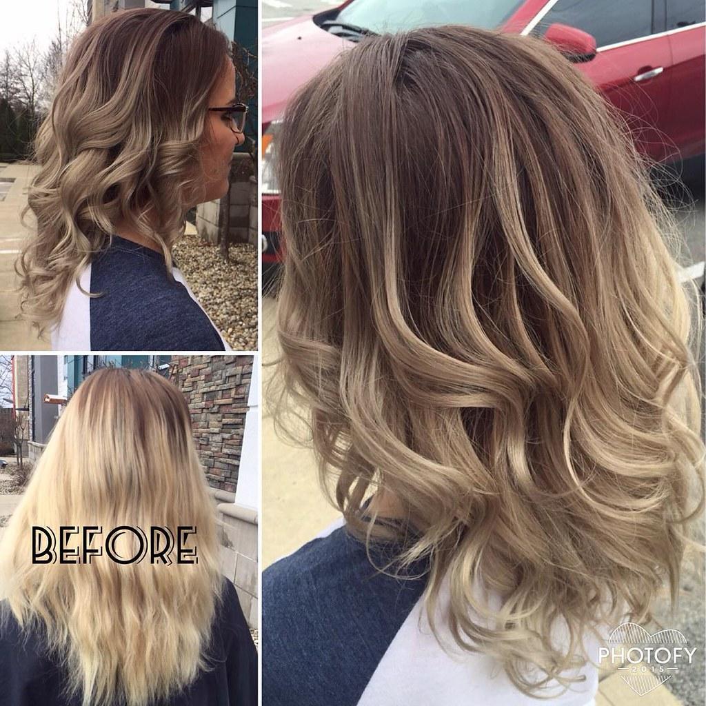 Ash Blonde Balayage Hair Color G Michael Salon Indianapo Flickr