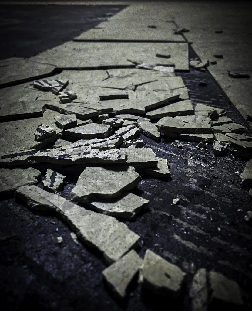 Broken brittle asbestos floor tile will the asbestos flo flickr broken brittle asbestos floor tile by asbestorama dailygadgetfo Image collections