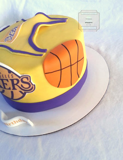 Lakers Basketball Birthday Cake By Sweettoothdesserts Cdra