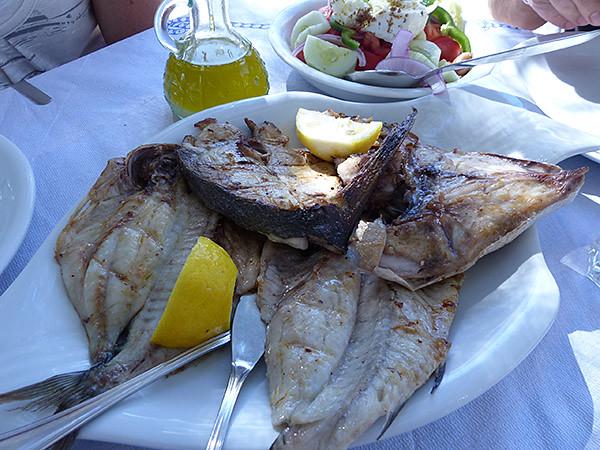 … et le poisson grillé