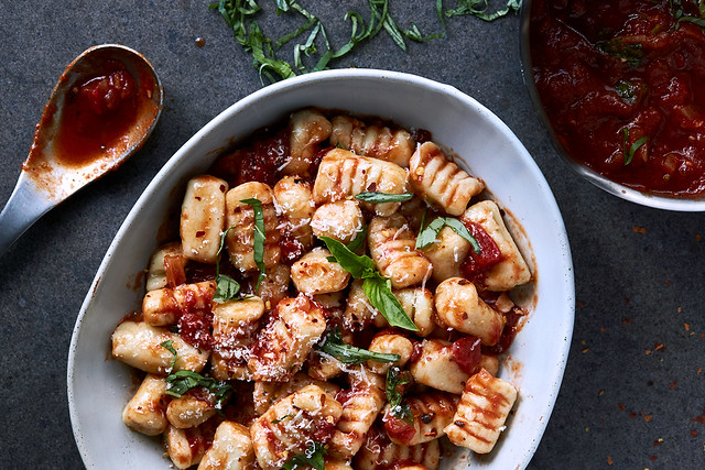 Grain-free Sweet Potato Gnocchi with 15-Minute Tomato Sauce
