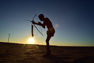 Elia Fester, Kalahari Khomani San Bushman, Boesmansrus camp, Northern Cape, South Africa | by South African Tourism