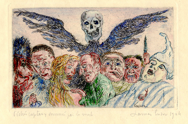 James Ensor - The Deadly Sins Dominated by Death, 1904