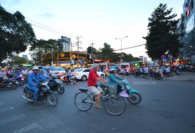 Saigon ho chi minh city traffic