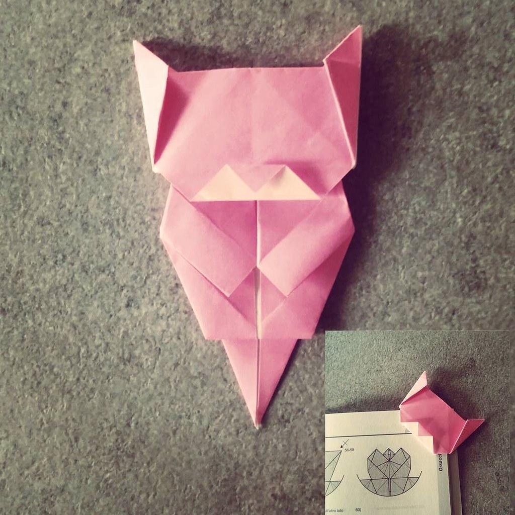 Neko Bookmark Model By Jo Nakashima Origami Cat Book