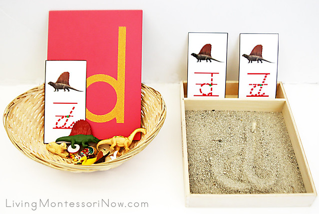 Letter D Object Basket and Sand Tray