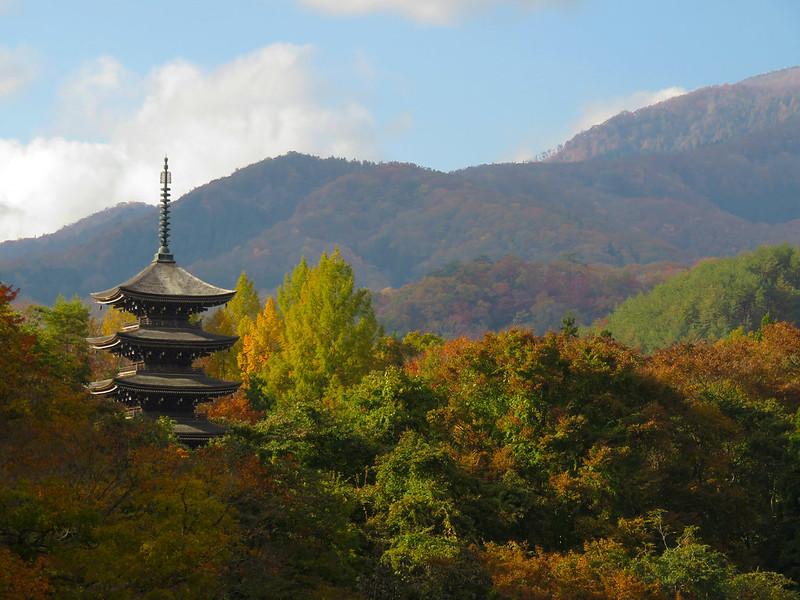 Johgi Nyorai. Five-storieed pagoda (Goju no Tou)