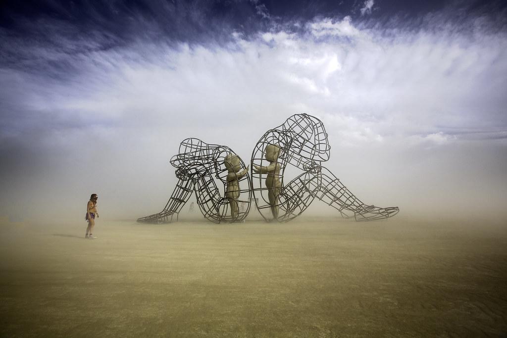 burning man love is a sculpture by alexandr milov it demo flickr