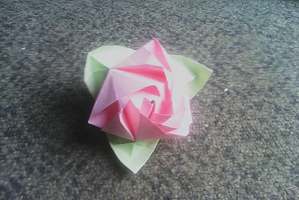 Origami magic rose cube valerie vann origami origamist flickr origami magic rose cube valerie vann origami origamist origamiart origamiflower mightylinksfo