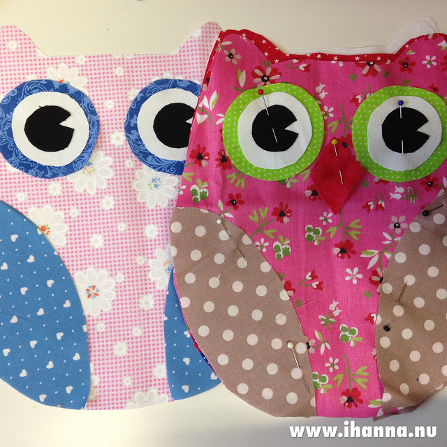 Cute owls WIP (mom's making) - photo by @ihanna #pinkandblue