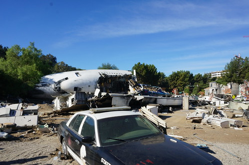 Universal Studio Tour: War of the Worlds Plane Crash | by Disney, Indiana