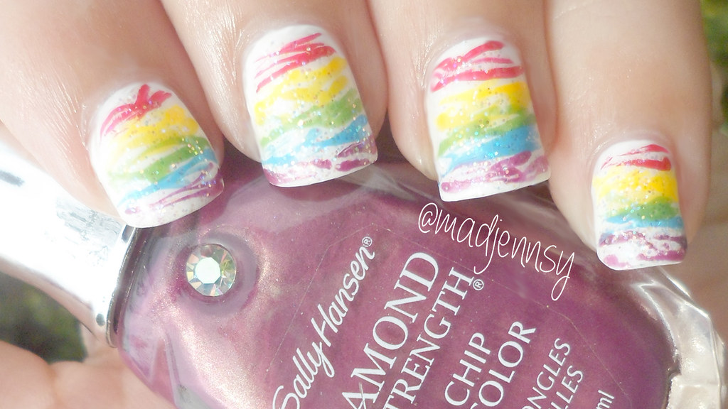 Rainbow Spun Sugar Nails Watch Hd Tutorial Youtumjfr Flickr