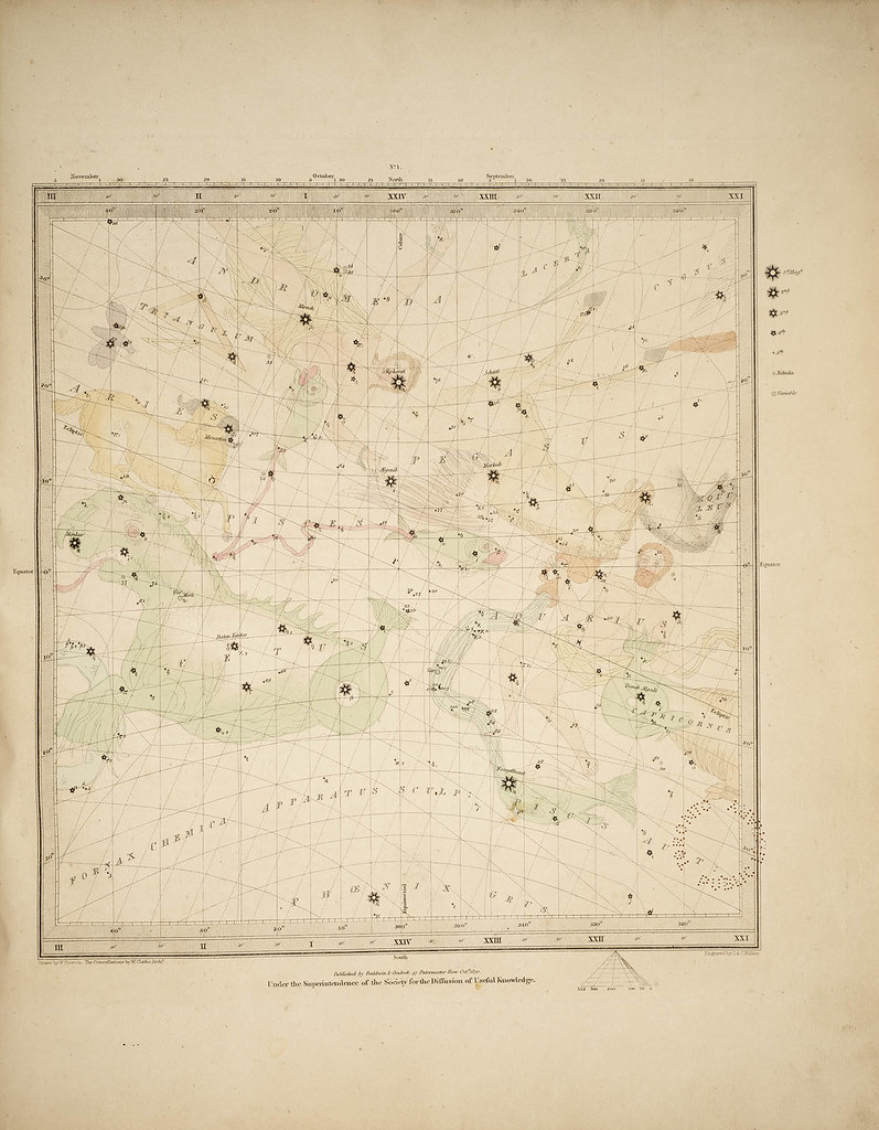 Zodiac Star Chart: Zodiac star chart 1839 | This zodiac star chart comes from u2026 | Flickr,Chart