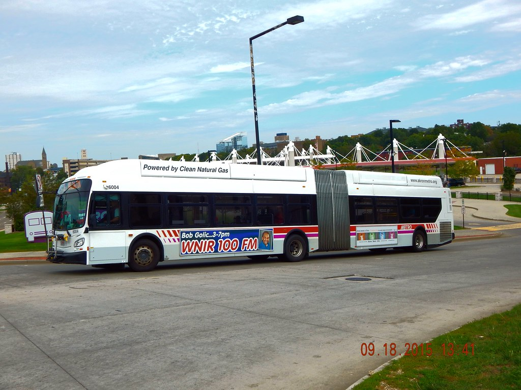 akron metro: 2013 new flyer xn60 (cng) #6004 | route: 2 - rk… | flickr