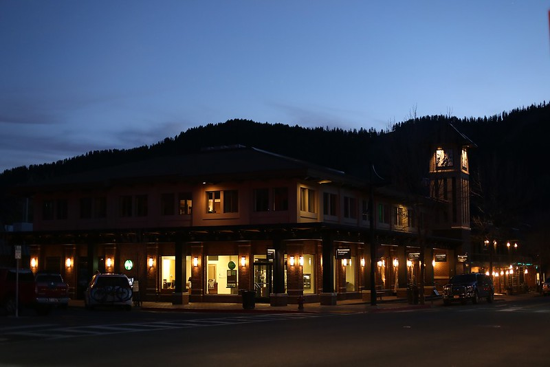 Ketchum at night